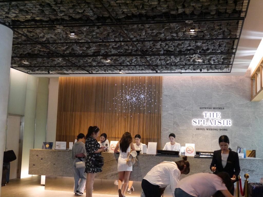 相鉄ホテルズスプラジールソウル明洞のフロントは24時間対応で日本語もOK