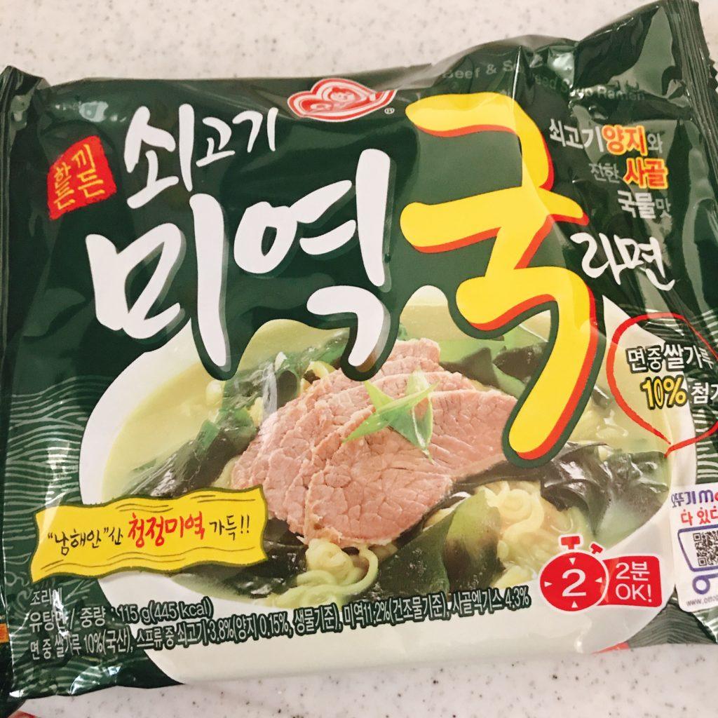 韓国インスタント わかめスープらーめん