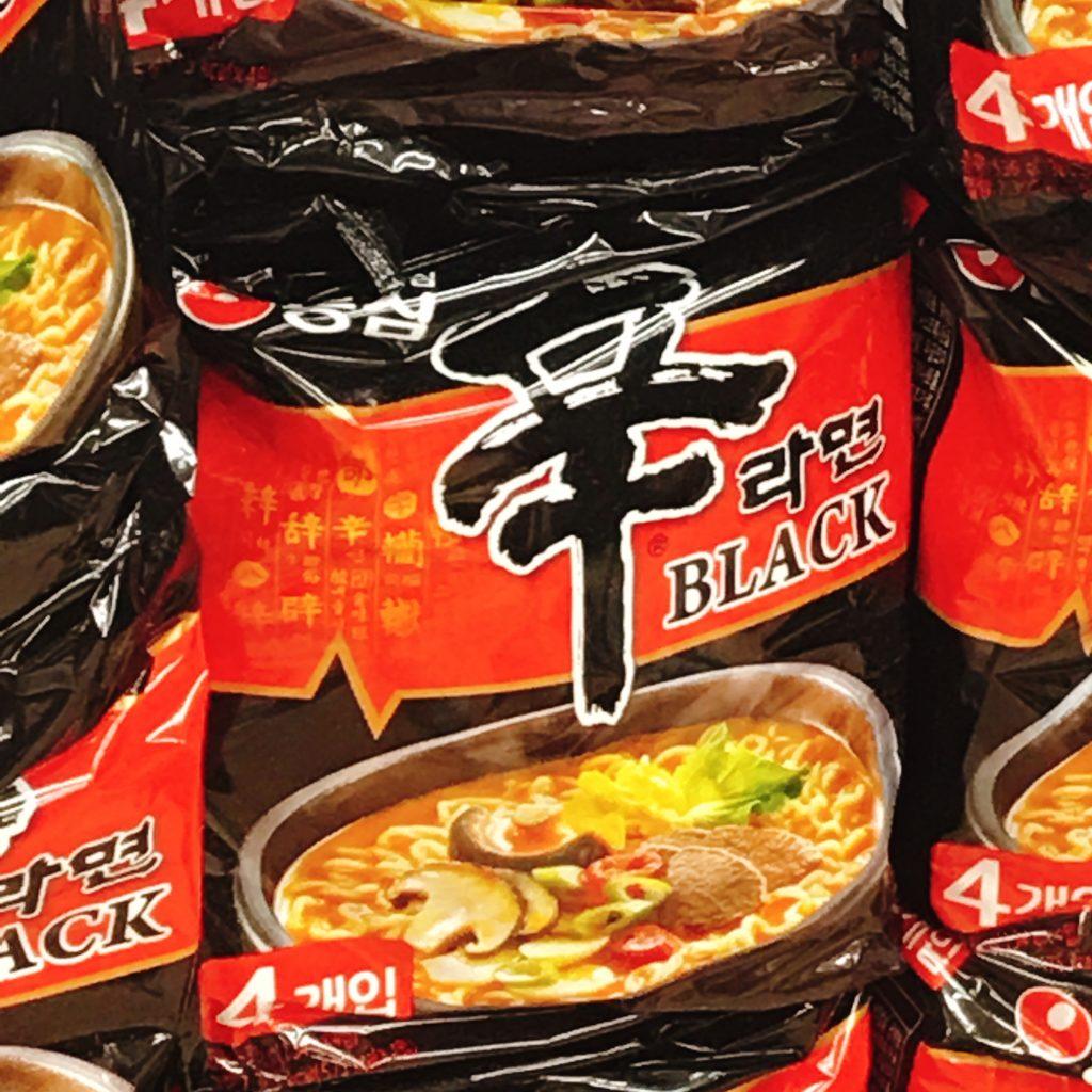 韓国インスタント 辛ラーメンブラック