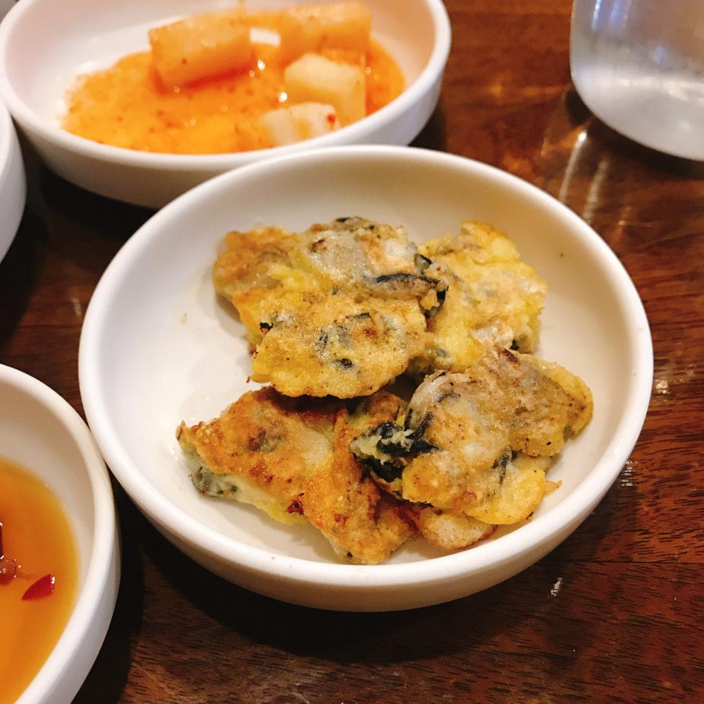 牡蠣のチヂミ