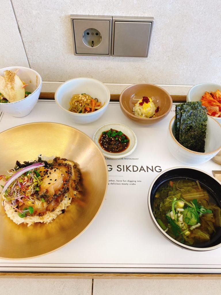 韓国ソウル GEBANG SIKDAN回線料理専門店 アワビビビンバ