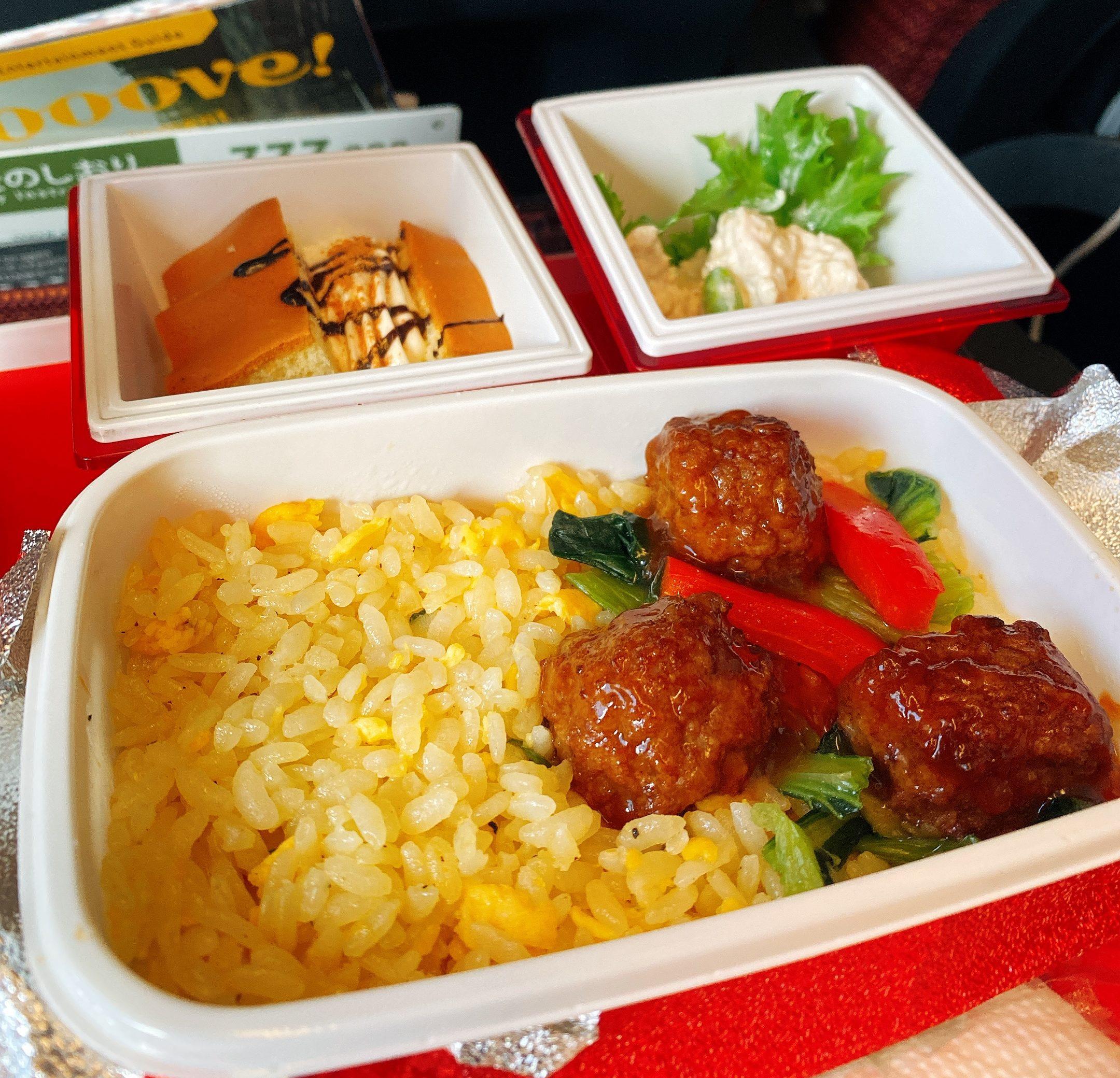 JAL ソウル行き 機内食