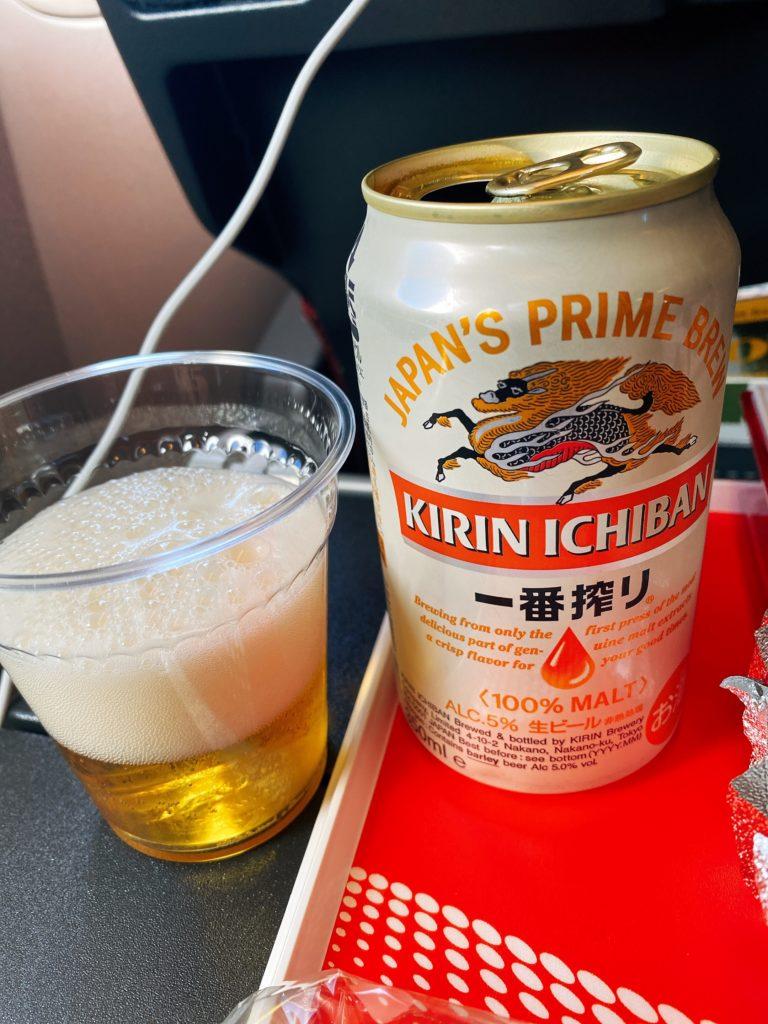 JAL 機内食 キリン1番搾り