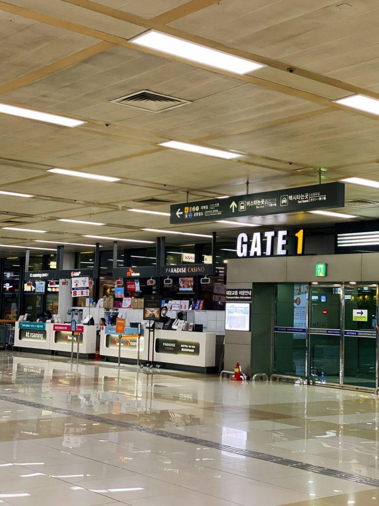 ソウル金浦空港到着ロビー