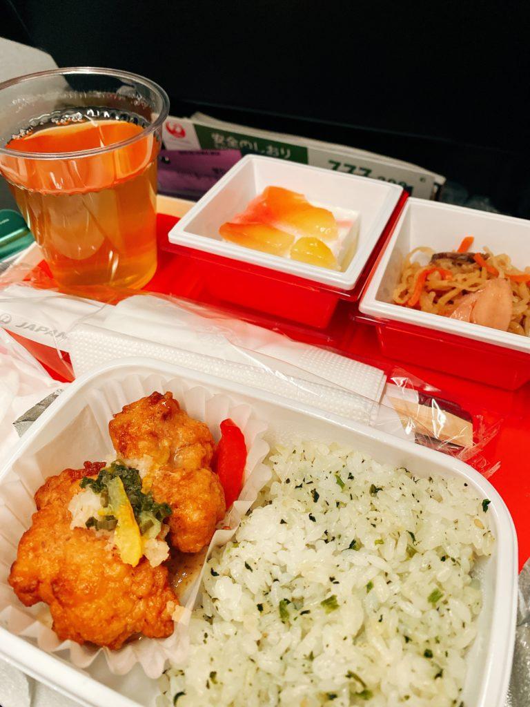 JALソウル金浦発・羽田行き 機内食