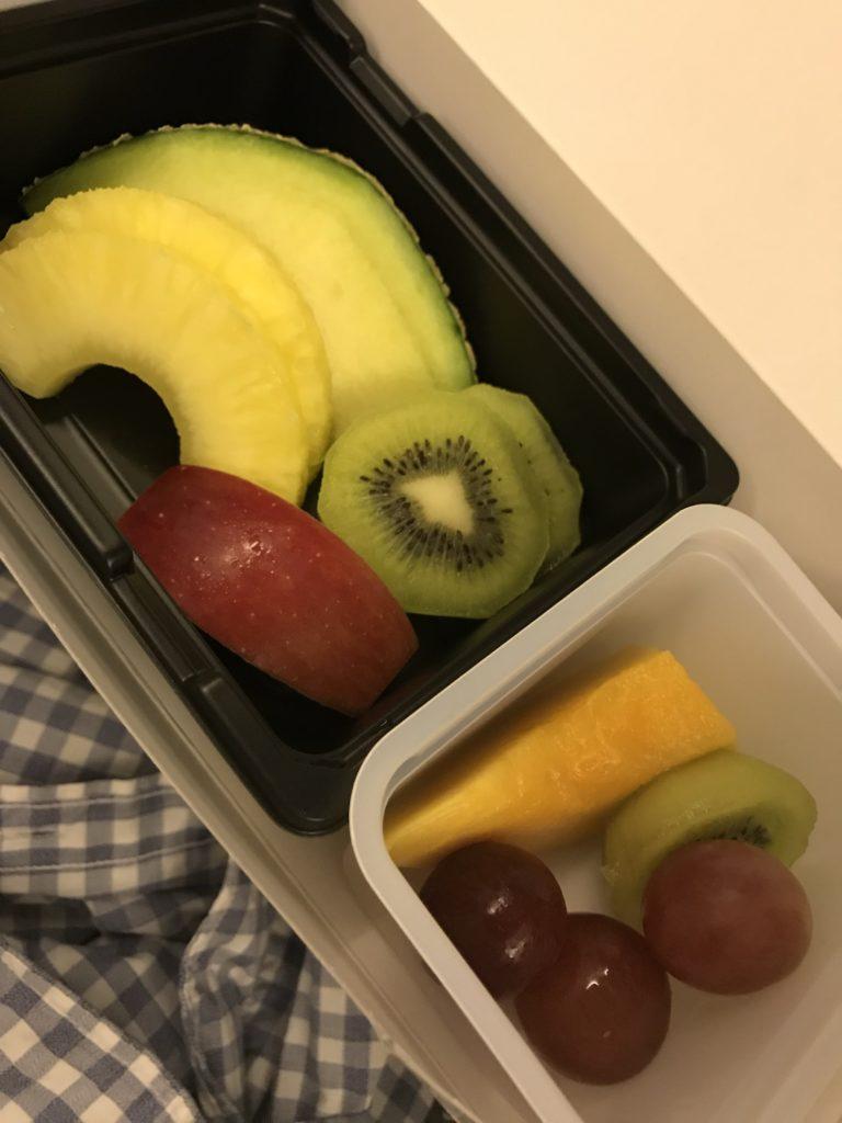 JAL機内食フルーツミール