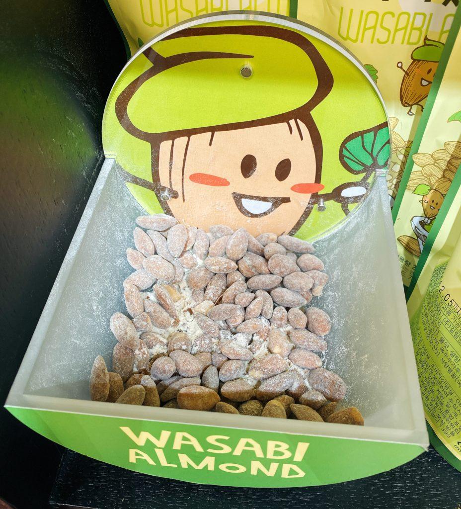 韓国お土産で人気のTom'sのアーモンド わさび味
