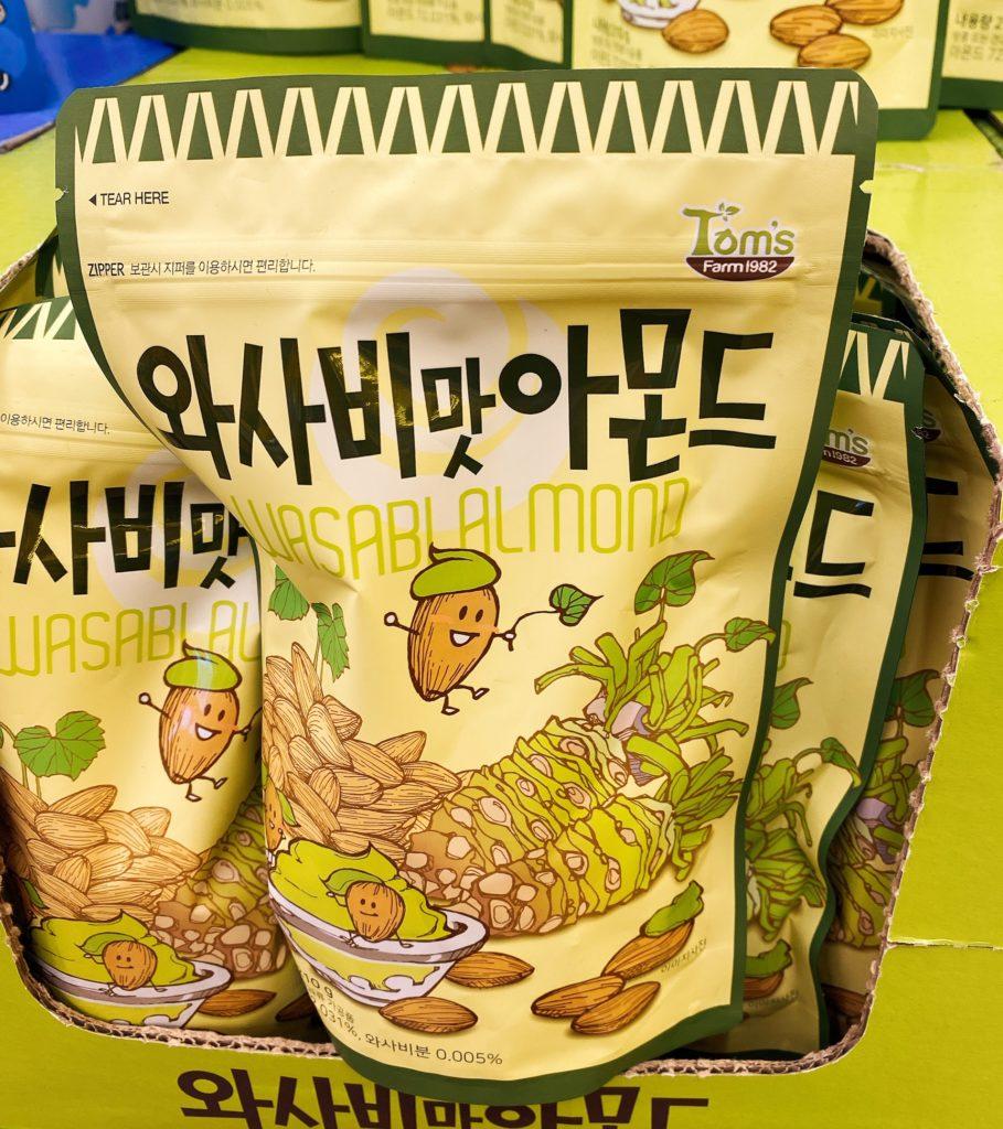 韓国お土産で人気のTom'sのアーモンド ワサビ味