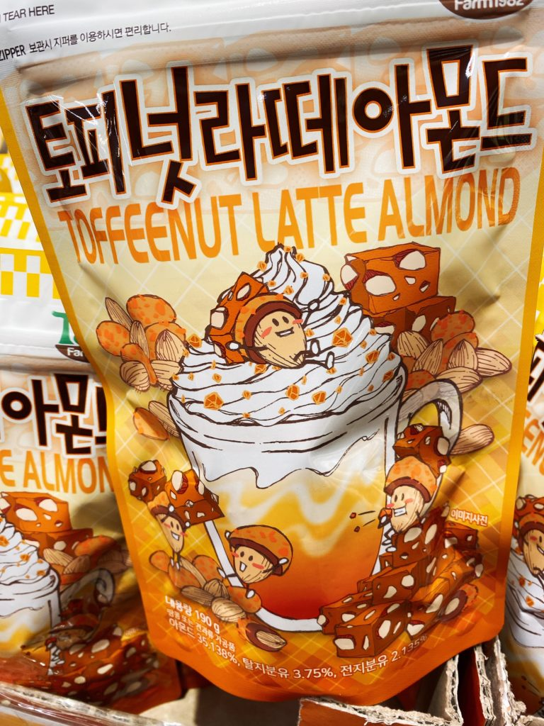韓国お土産で人気のTom'sのアーモンド